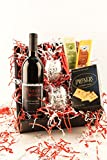 Evening In, Columbia Valley, Washington Wine and Cheese Basket Gift Set Cabernet Sauvignon, 1 x 750 mL