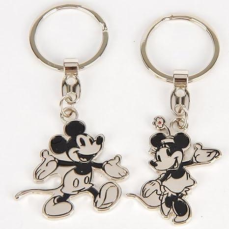 Amazon.com: Mickey Mouse Llavero Clave Anillo Cadena 2pcs ...