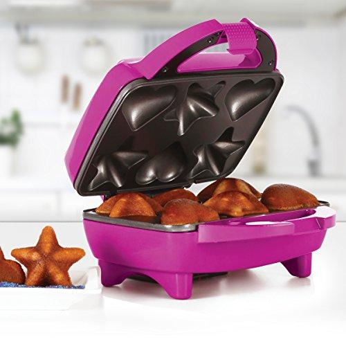 Holstein Housewares HF-09034M Star & Heart Cupcake Maker - Magenta