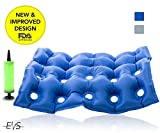 "Premium Air Inflatable Seat Cushion 17"" X 17"" Heat Sealed Construction for Durability, Air Seat Cushion for Wheel Chair and Day to day use . Ideal for Prolonged Sitting .FDA Approved (Blue)"