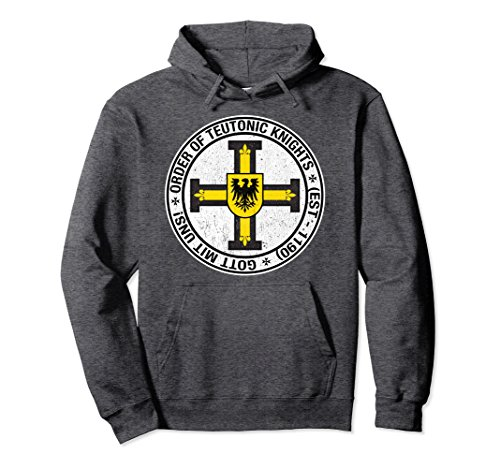 Unisex Order of the Knights Teutonic Coat of Arms Crusader t-shirt Small Dark Heather