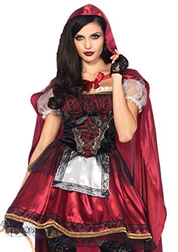 Red Little Riding Hood Costume (Leg Avenue Women's Red Riding Hood Costume, Burgundy, Large)