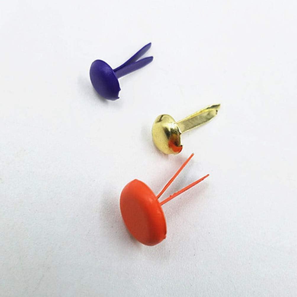 Healifty Craft Brad Befestigungselemente Metall Brads Mini Runde Papier Scrapbooking Handwerk Machen Stempeln Und DIY 150 STK.