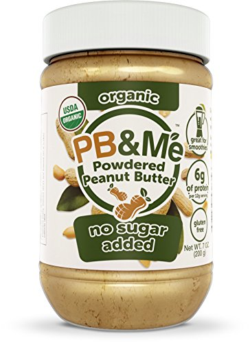 Almond Sugar Free Butter - PB&Me Organic Powdered Peanut Butter, No Sugar Added, 7oz
