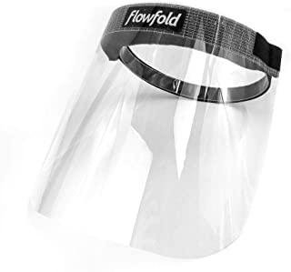 product image for 10-Pack Flowfold Face Shield Masks - Protective Face Shields, Full Face Clear Plastic Anti-Fog Visor Face Shield Made in USA (10 Masks, One Size)