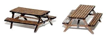 Pub mesa/El Banco (1 par) N escala 1: 148 sin pintar modelo kit ...
