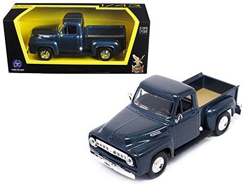 Road Signature 94204-DK.BL 1953 Ford F-100 Pick Up Truck Dark Blue 1/43 Diecast Car Model