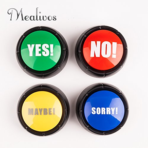 Set of 4 , The NO, YES, SORRY and MAYBE Buttons