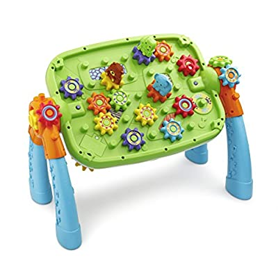 VTech GearZooz 2-in-1 Jungle Friends Gear Park, Great Gift For Kids, Toddlers, Toy for Boys and Girls, Ages 2, 3, 4: Toys & Games