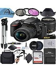 $764 » Nikon D5600 DSLR Camera 24.2MP Sensor with NIKKOR 18-55mm f/3.5-5.6G VR Lens, SanDisk 128GB Memory Card, Case, Tripod, 3 Pack Filters and A-Cell Accessory Bundle (Black)