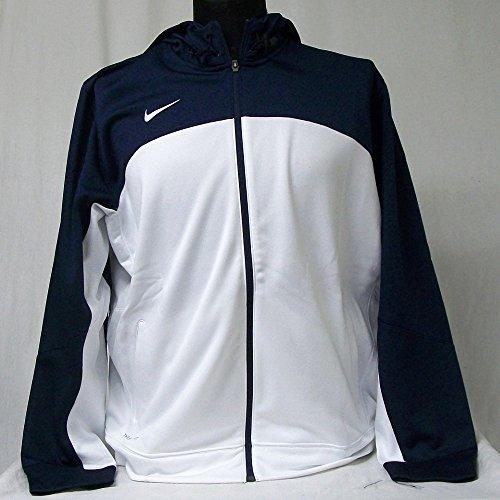Nike New Club Jacket (NEW Men's Nike Full Zip Hoodie Therma Fit Basketball Jacket Blue White X-Large XL)