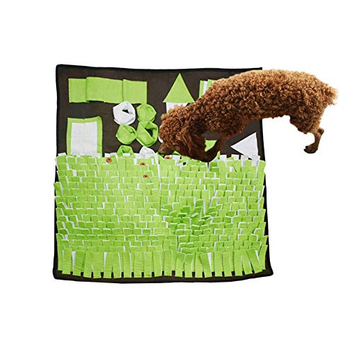 Per Dog Feeding Mat Pet Snuffle Mat Small/Large Dog Training Pad Pet Nose Work Blanket Non Slip Pet Activity Mat for Foraging Skill, Stress Release Machine Washable ()