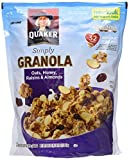 Quaker Natural Granola Oats, Honey, Raisins and Almonds - Two 34.5oz Bags (Pack of 6)