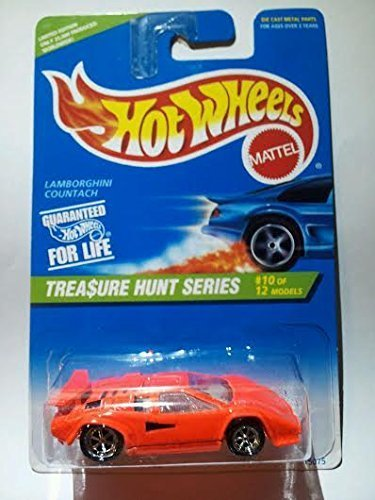 1996 Hot Wheels Treasure Hunt Series #10/12 Limited Edition Only 25,000 Produced! - Lamborghini Countach