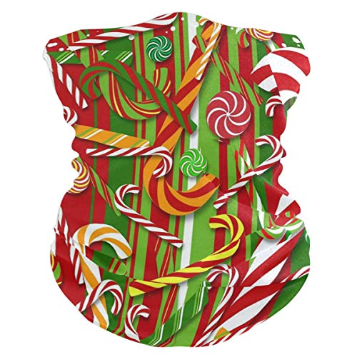 Colorful Candy Canes Headband Womens Bandana Multifunctional Mens Balaclava, Neck Warmer, Face Mask, Headwear Wristband