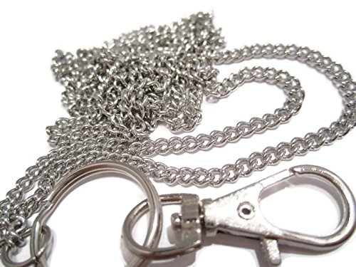 ATLanyards Just A Plain Chain Lanyard - Stainless Steel Strong Badge Holder