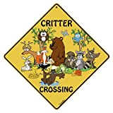 Critter Crossing 12'' X 12'' Aluminum Sign