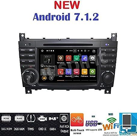 Android 7 1 Gps Dvd Usb Sd Wlan Bt Autoradio 2 Din Navi Mercedes C Klasse W203 C220 C230 C240 C280 Clk Klasse W209 Clk200 Clk220 Clk 240 Mercedes Klasse Clc W203 W467 A209 W219 Navigation