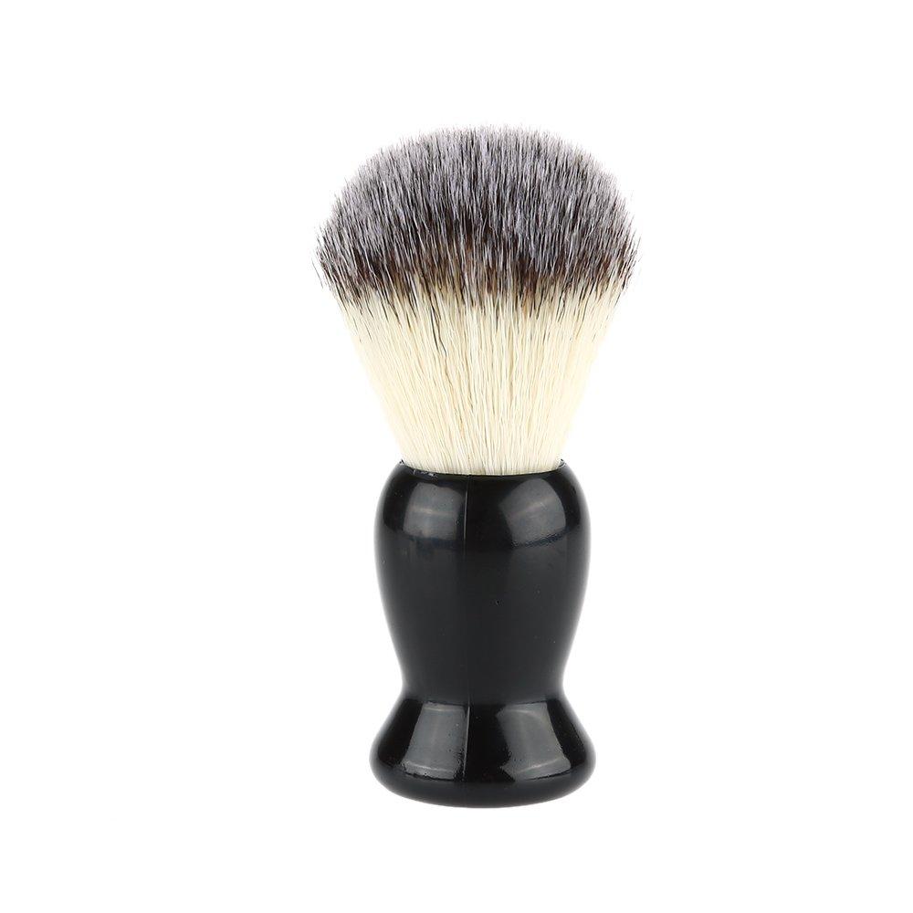 Anself Brocha de afeitar de tejón excelente de limpieza facial de barba de mango negro para hombres