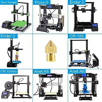 Amazon.com: Aokin - 10 boquillas para impresora 3D ...