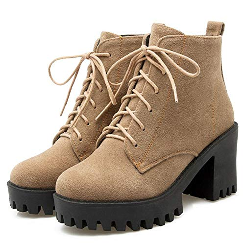 Ankle High Boots Khaki Chunky Women Classic Coolcept 7nzwvgx