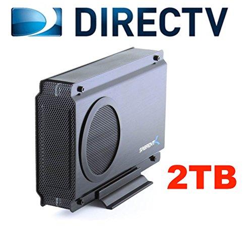 2TB DVRdaddy External DVR Hard Drive Expander For DirecTV HR20, HR21, HR22, HR23, HR24, HR34, HR44, HR54 Genie DVR. +2000 Hours Recording Capacity and!