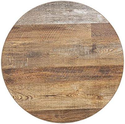 Chiner - Tablero de mesa redondo 60 cm. Oscuro: Amazon.es ...