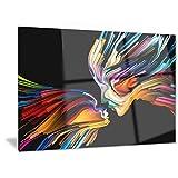 Designart Kissing Minds Graphic Art - Abstract Metal Wall Art - MT6133 - 40x30
