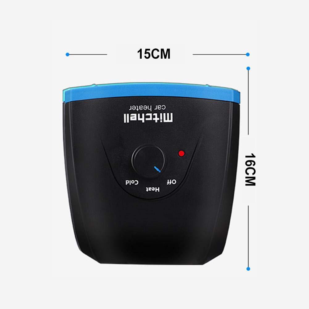 SinceY Calefactor Coche 12V-24V Ventilador de Enfriamiento de Calor del Desempa/ñador de Calentamiento R/ápido del Calentador Port/átil del Coche 15x16 Cm