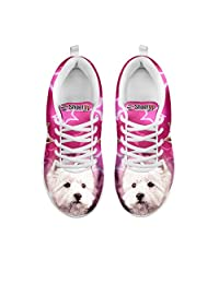 Women's Lightweight Sneakers-Dog Print Running Shoes Sneakers (Choose Your Pet Breed)