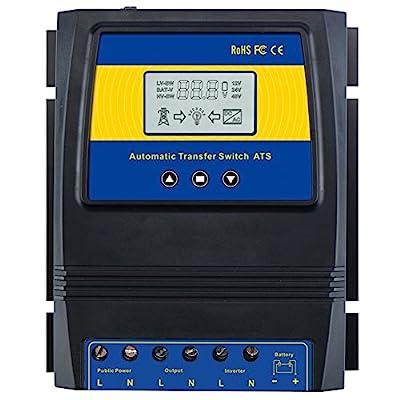 MOES Dual Power Controller 50A 5500 Watt Automatic Transfer Switch for Off Grid Solar Wind System ATS DC 12V 24V 48V AC 110V 220V