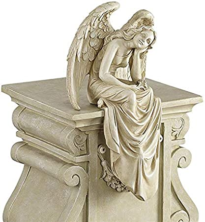 Amazon.com: Design Toscano - Estatua de ángel sentado ...