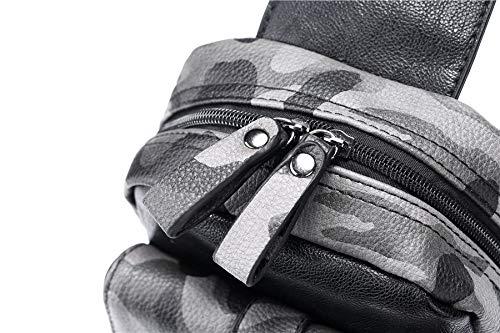 Air Cuir Plein D'épaule camouflage Sac Épaule Bandoulière Dos Sports Mode Multifonction De À En Pu Hommes Pour xHqI7p1qw