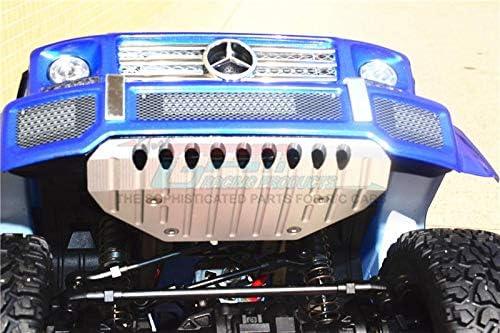 G.P.M 82096-4 - 1 Set Gray Silver Skid Plate For Traxxas TRX-4 Mercedes-Benz G500 Aluminum Front Bumper // TRX-6 Mercedes-Benz G63 88096-4