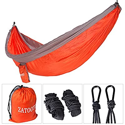 Parachute Double Camping Hammock-Lightweight Portable Nylon Hammock For Backpacking,Camping,Travel,Beach,Yard,Including 2 Straps,2 Carabiners