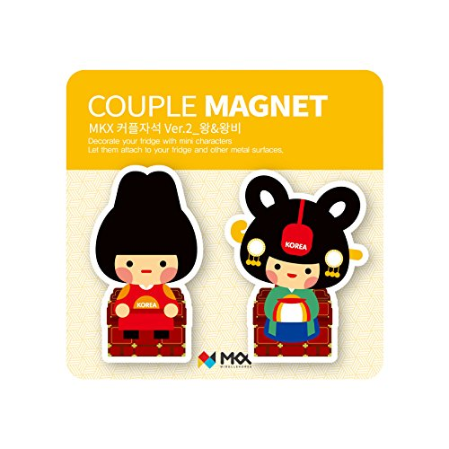 Mkx Costumes (King and Queen Couple Fridge Magnet Joseon Dynasty Korea Traditional Costume Memo Holder)