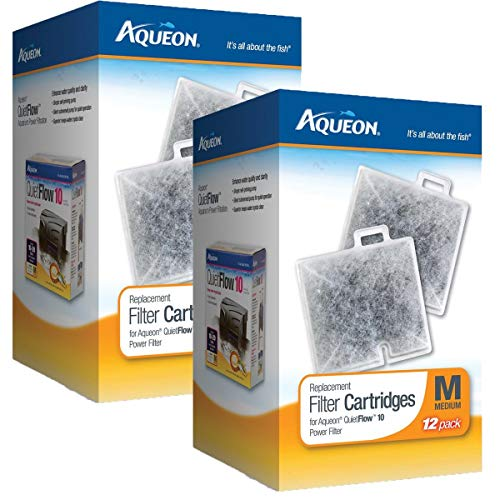 Wet Cartridge Filter - Aqueon 100106418 Filter Cartridge, Medium, 24-Pack