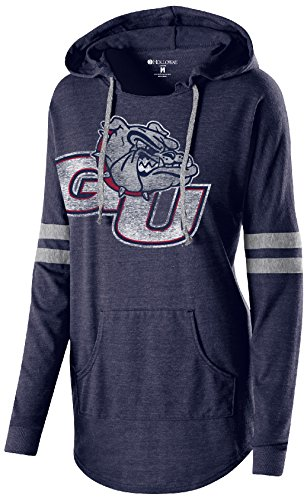Gonzaga Bulldogs Jacket (NCAA Gonzaga Bulldogs Women's Hooded Low Key Pullover, X-Large, Vintage Navy/Vintage Grey)