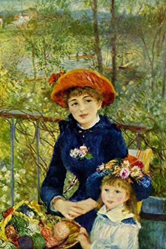 Pierre Auguste Renoir Two Sisters On the Terrace Fine Art Poster 24x36 inch (Auguste On Renoir The Pierre Terrace)