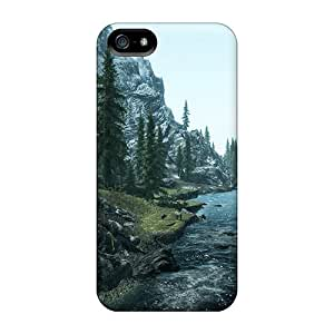Durable Hard Phone Covers For Iphone 5/5s With Provide Private Custom Attractive Skyrim Pictures AnnaDubois