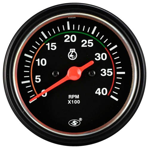 85mm 12/24V Diesel Tachometer with Bulb Back Light Diesel Tachometer