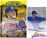 #2: 2017 Topps Series 1 MLB Baseball EXCLUSIVE Factory Sealed Retail Box with 101 Cards Plus BONUS 2013 KRIS BRYANT ROOKIE Card! Box Includes Special Commemorative Jackie Robinson Patch Card! Wowzzer!