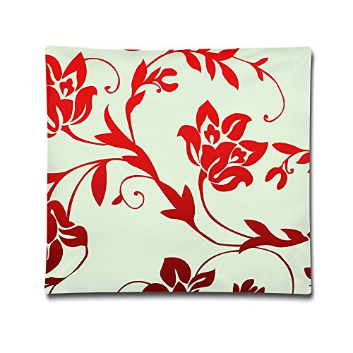 Kjaoi 1818 Inches Pillow Case Floral Wallpaper Comfortable