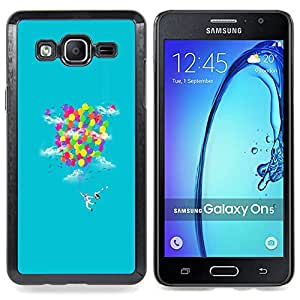 SKCASE Center / Funda Carcasa protectora - Rainbow Ballons;;;;;;;; - Samsung Galaxy On5 O5
