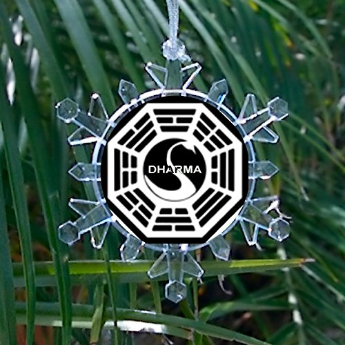 ABC TV Show LOST Dharma Station Snowflake Multi Color Blinking Holiday Christmas Tree ()