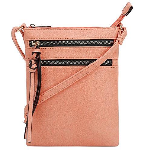 DELUXITY   Crossbody Purse Bag   Functional Multi Pocket Dou