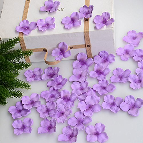 (Hydrangea Petals Artificial Silk Pincushion Petal Flower Bridal Shower Favors for Wedding Party Supplies Table Floor Decoration Centerpieces Confetti (170, light)