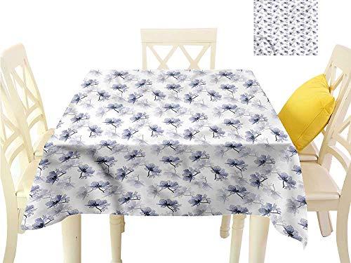 WilliamsDecor Square Tablecloth Poppy,Retro Flower Composition Outdoor Picnics W 50