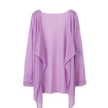 c7a4e1497fe Amazon.com  Freedi Women UV Sun Protective Clothing Lightweight Skin Coat  Long Sleeve Beachwear Cover Up (Purple)  Beauty