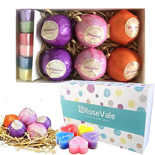 Naturelle Spa Set 6 Handmade Natural Bath Bombs Luxury Spa Organic Gift Lavander/Vanilla/Sea